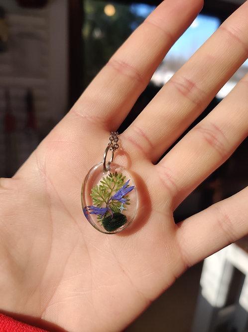 Purple Fern Necklace