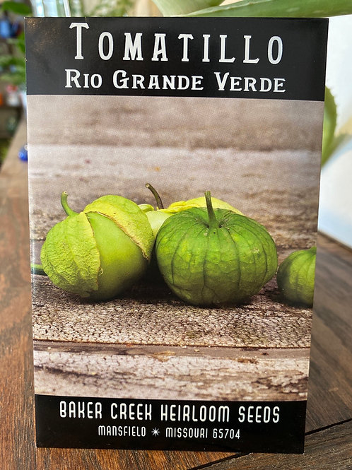 Baker Creek Heirloom Seeds - Tomatillo - Rio Grande Verde
