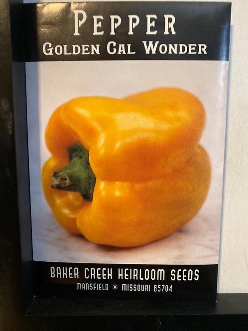 Baker Creek Heirloom Seeds - Pepper - Golden Cal Wonder
