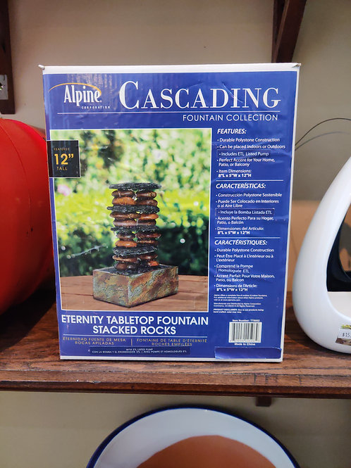 Alpine Stacked Rocks Tabletop Fountain