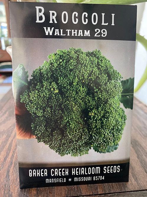 Baker Creek Heirloom Seeds - Broccoli - Waltham 29