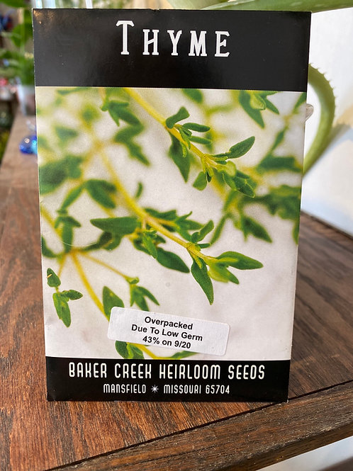Baker Creek Heirloom Seeds - Thyme