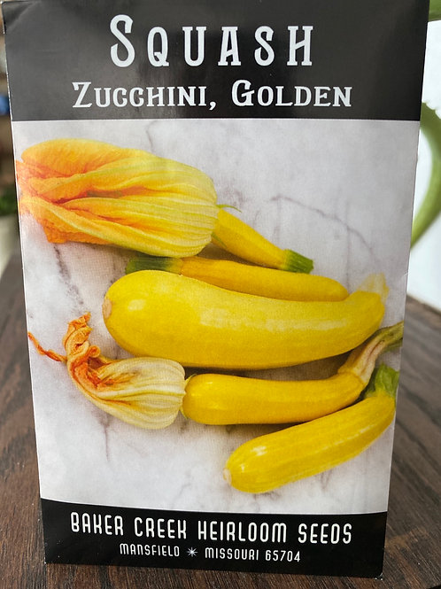 Baker Creek Heirloom Seeds - Zucchini - Golden Squash