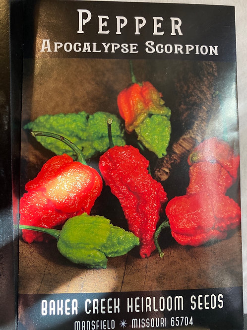 Baker Creek Heirloom Seeds - Pepper - Apocalypse Scorpion
