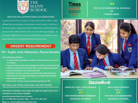 Apply for TGT – English, Hindi, Mathematics & Physical Education in one of India's Best Boarding...