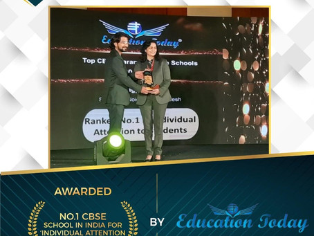 Ramagya School has been conferred with the' India School Merit Awards 2020'and is Ranked No.1 in IND