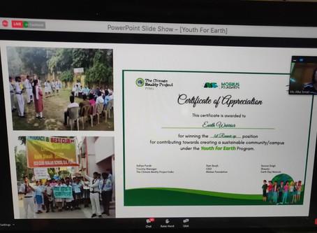 International Conference on Sustainability Education Webinar at Ramjas School RK Puram, Delhi.