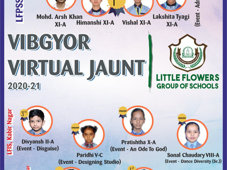 Accolades For The Students of Little Flowers Group Of Schools At Inter School Competition.