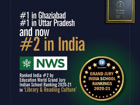 Education World has recognised Nehru World School's Library and Reading programme as 1st in Uttar Pr
