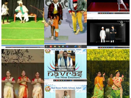 Red Roses Public School Saket, celebrated first ever digital Annual Day function NAVRAS.