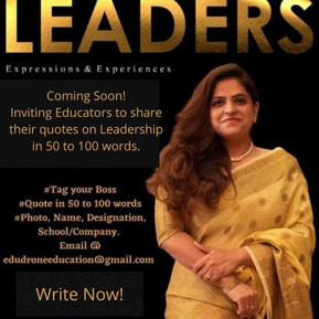 EduDrone's Third Book, WE ARE LEADERS- Expressions AND Experiences Co-Authors Coffee Meet