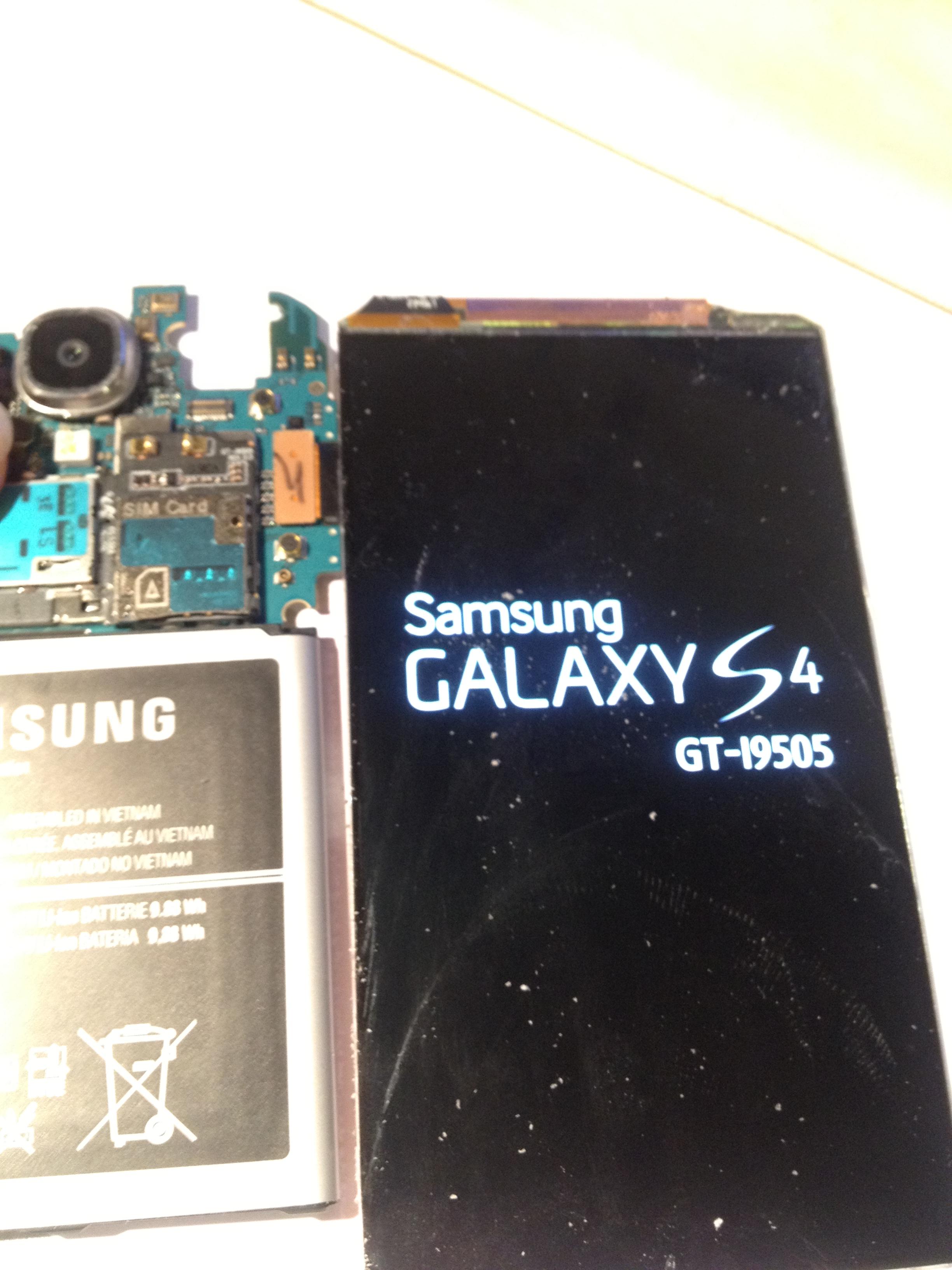 Galaxy S4 в разглобен вид