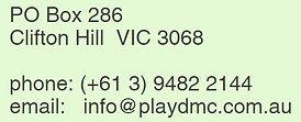 Play DMC address