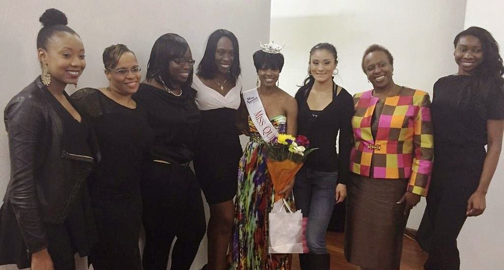 Dieusita Jean along with the Miss Queens Executive Board