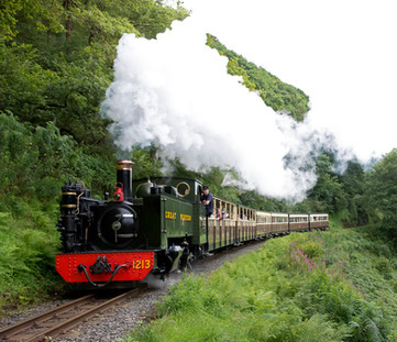 Train in the Cambrian Mountains