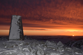 Sunrise in the Cambrian Mountains
