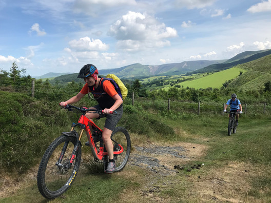 Mountain biking in the Cambrian Mountains