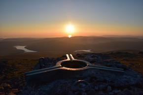 Sunset on Pumlumon