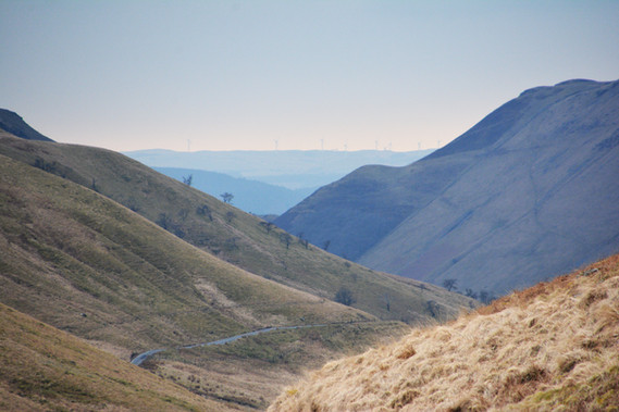 Mountain road in the Cambrian Mountains