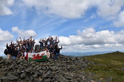 Highest point in the Cambrian Mountains