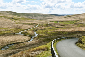 Mountain road in Cambrian Mountains