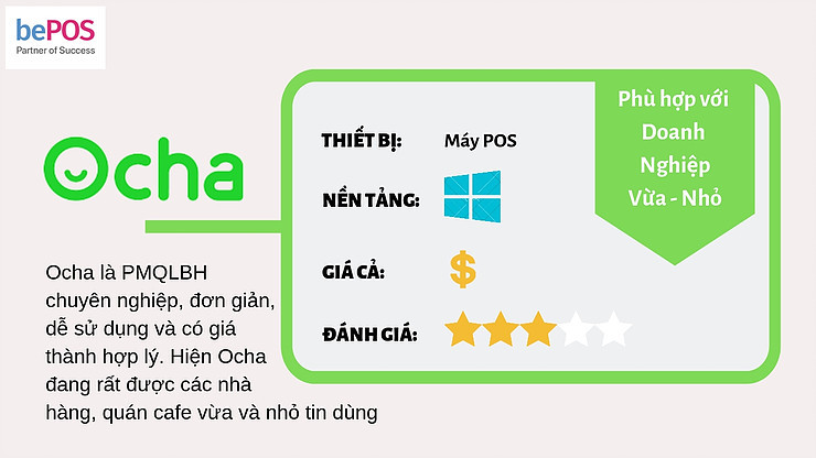 Phần mềm quản lý Ocha