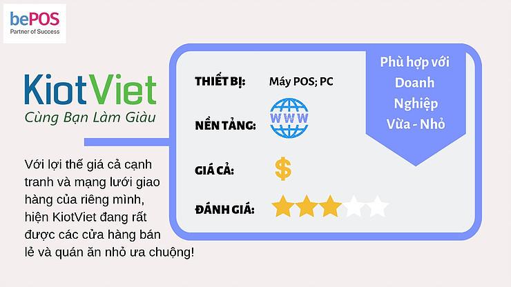 Phần mềm quản lý Kiot Việt