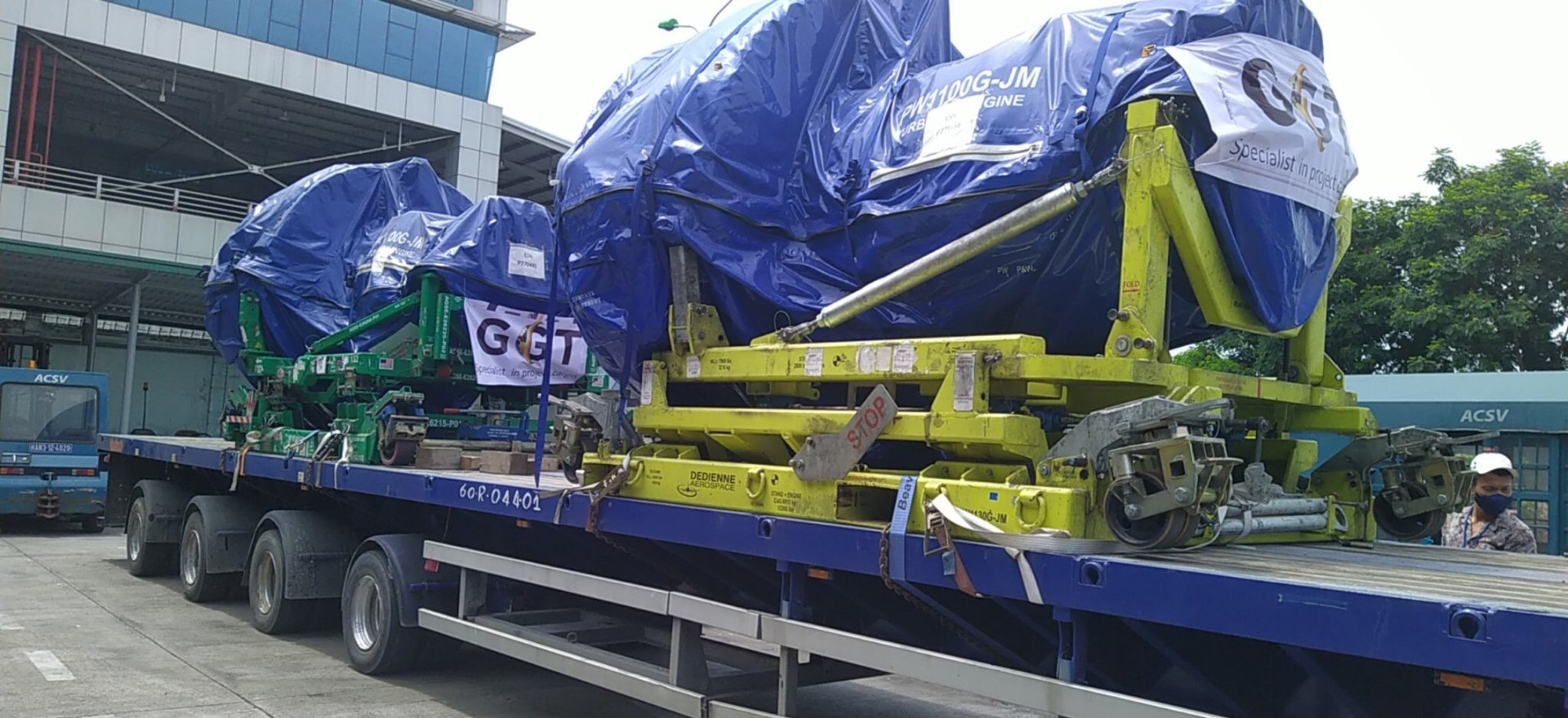 TRANSPORTING AIRBUS TURBO FAN ENGINES