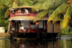 Couple-on-a-Alleppey-honeymoon-houseboat
