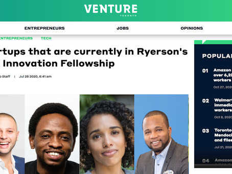 8 startups that are currently in Ryerson's Black Innovation Fellowship