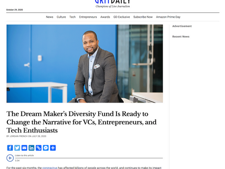 Dream Maker's Diversity Fund Is Ready to Change the Narrative for VCs, Entrepreneurs, and Tech