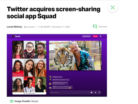 Twitter acquires screen-sharing social app Squad