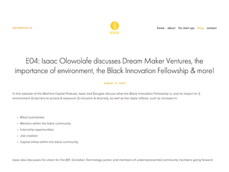 E04: Isaac Olowolafe discusses Dream Maker Ventures, the importance of environment, the BIF & more!