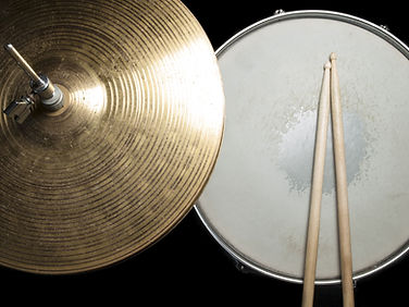 Overhead shot of Sticks, Snare and Hats