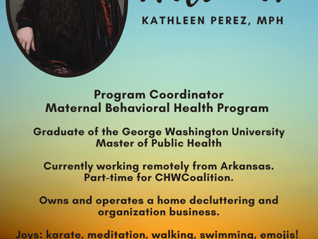 We are growing and welcome our new Program Coordinator for Maternal Behavioral Health.