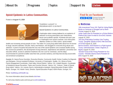 Opioid Epidemic also affects our Latino Communities.