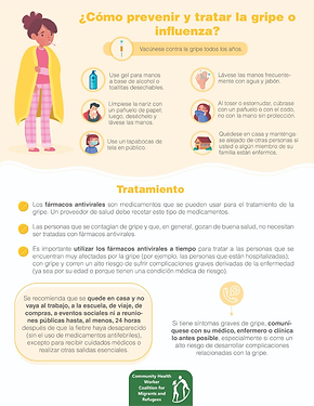 We can prevent the flu by many ways.                Podemos prevenir la gripe de muchas maneras.