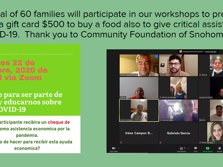 More workshops in COVID-19 to benefit more families affected by COVID in Snohomish.