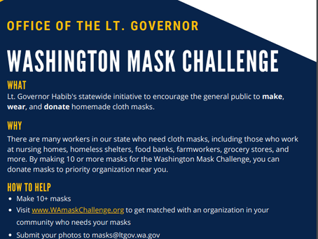 CHWCMR is taking up the challenge and supporting the effort of the Office of the LT. Governor!