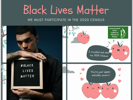 """We  participate in the US census to  support """"Black lives Matter"""""""