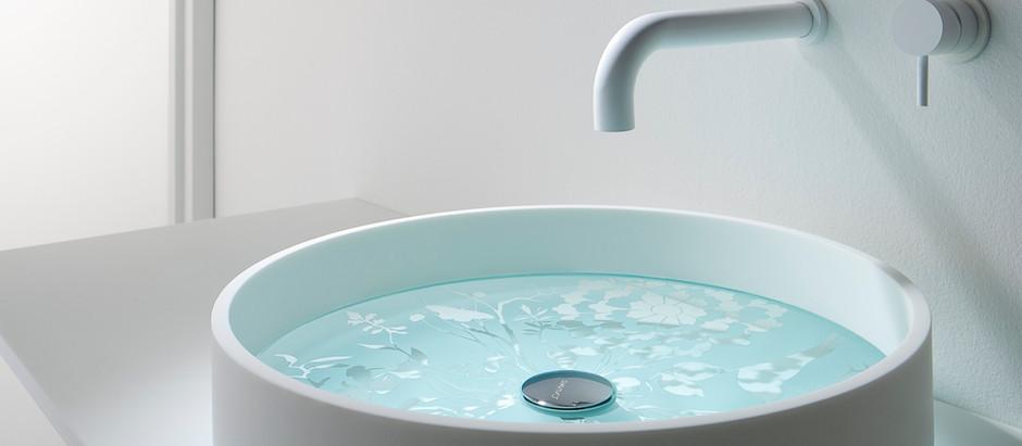 INTRICATELY-PATTERNED FLOATING SINK