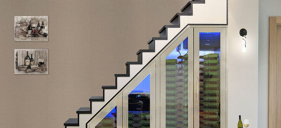 STAIRCASES & WINE STORAGE