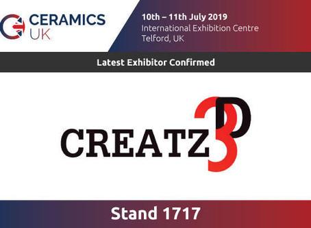 Visit us at Ceramics UK 2019