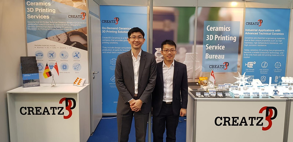 Mr. Sean Looi and our Ceramic Applications engineer, Pengcheng Ye.