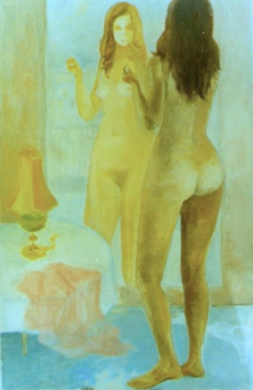 Standing self-portrait in mirror