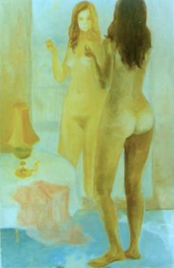 Autoportrait en pied au miroir
