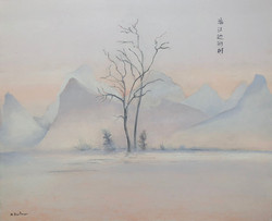 Arbres au bord de la rivière Li