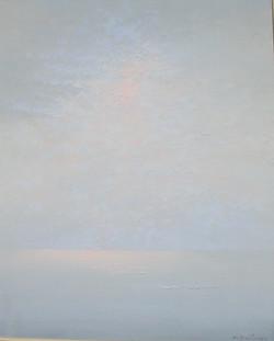 Le lever du soleil en mer