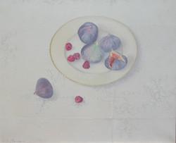 Figs and raspberries