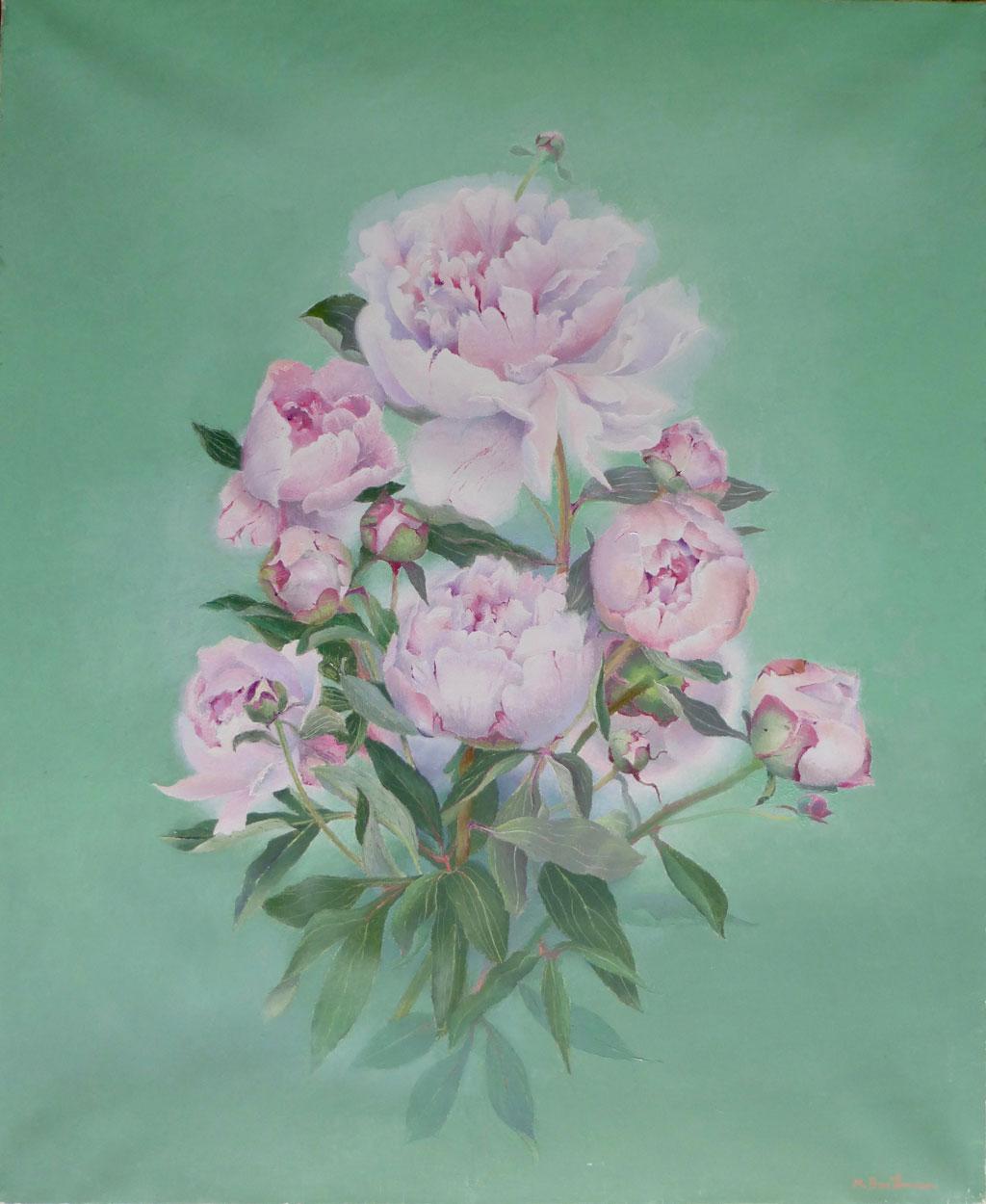 Les pivoines roses
